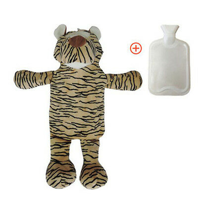 1 L Washable Hot Water Bottle With Cover Warm Gifts-Tiger