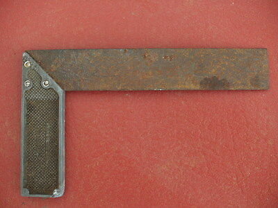 Old hand tool set square brass steel Made in Sheffield England