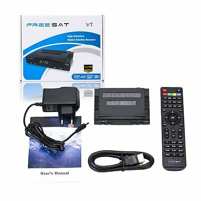 1080P FTA Set DVB-S2 Digital Mini TV Box Receiver NFreesat Support HDV7 Wifi
