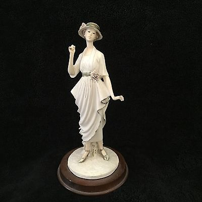 Vintage Resin Figurine Of Young Lady  H27 Cm
