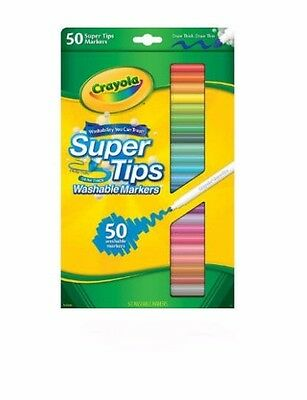 Crayola Super Tips Washable Markers Set - 50 Piece 50pc Brand New!