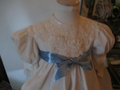Vintage Childs Ivory Dress With Vintage Lace Size Small