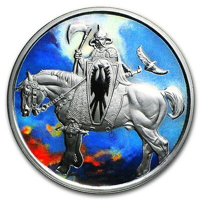 Death Dealer 1 oz .999 Silver Colorized Proof Encapsulated Round USA Made Coin