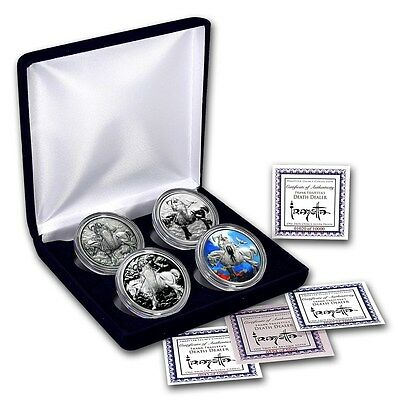 4 Coin Set of Death Dealer 1 oz .999 Silver USA Made Rounds - EXTRA LIMITED!