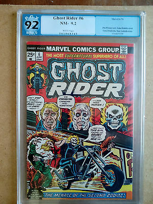 Pgx 9.2 Marvel Comics Ghost Rider #6 1974 White Pages
