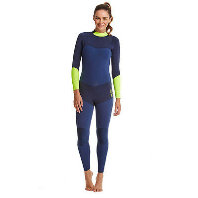 Quiksilver Roxy Womens Blue and Green XY 4/3MM Fullsuit Size 2 New $349