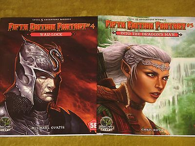 War-Lock+Into the Dragon's Maw NEW Fifth Edition Fantasy lot 5th ed.D&D rpg