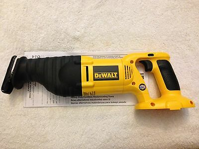 New Dewalt DW938 18 Volt Cordless Variable Speed Reciprocating Saw Made in USA