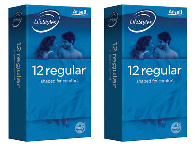 Ansell Life Styles Regular 12 Easy Fit Condoms X 2 Pack Buy