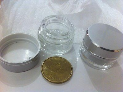 Concentrate Thick Glass Container Dab Mini Jar see through Screw Oil lot of 25