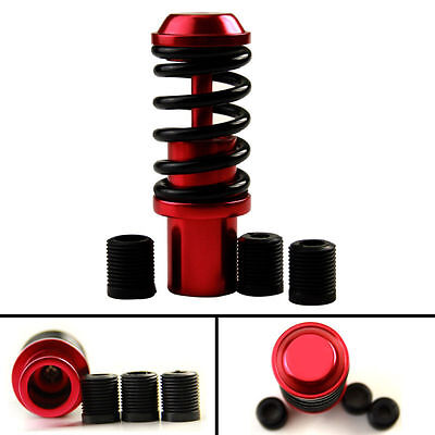 Red Steel Car Gear Shift Shifter Knob Universal Red Knob Stick - Racing Style