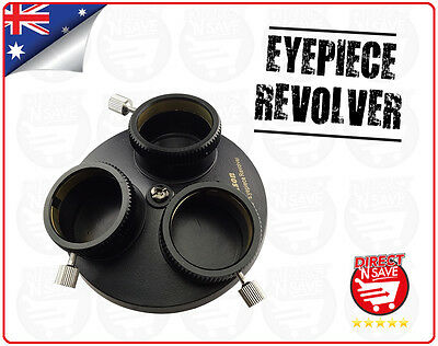 "Multi Eyepiece Revolver 1.25"" 3 Holders Telescope Precision Optical Astronomy"