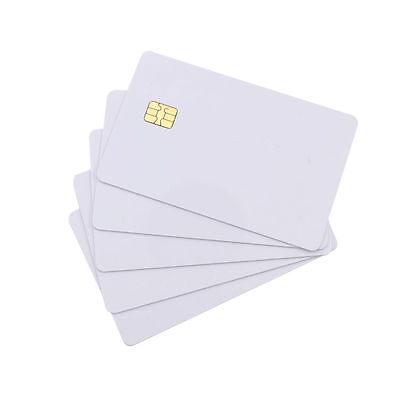 5 Pcs ISO PVC IC With SLE4442 Chip Blank Smart Card Contact IC Card Safety White