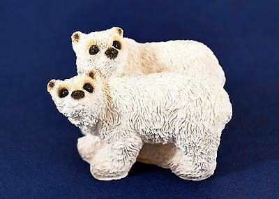 Stone Critters Littles Usa Two Polar Bears Scl-227 White