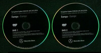 Mercedes-Benz Navigation DVD Système Comand APS NTG 2.5 16 Europe jaune citron
