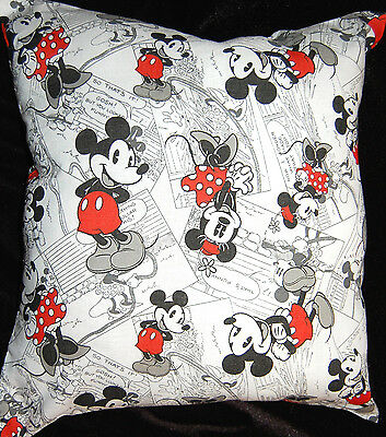New Handmade Disney Mickey & Minnie Mouse Travel/toddler Black And White Pillow
