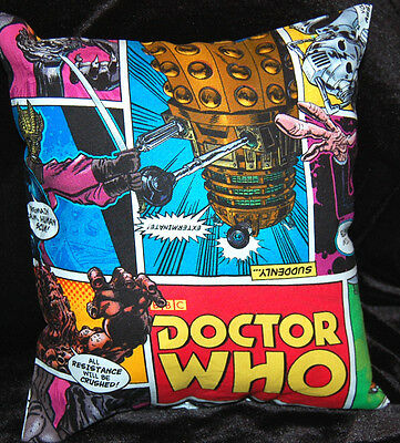 New Handmade Bbc Doctor Who Comic Car /travel / Cuddle Pillow @@