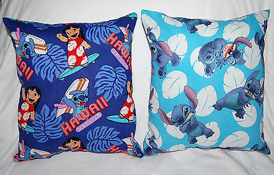 Two New Handmade Disney Lilo And Stitch Travel / Toddler  Pillows