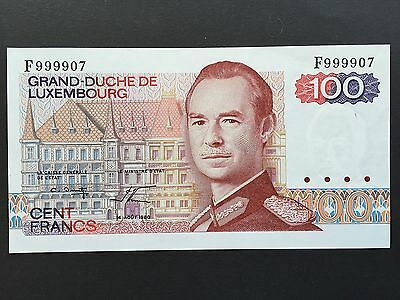 Luxembourg 100 Francs P57 High Number 999907 Dated 14th August 1980 aUNC/UNC