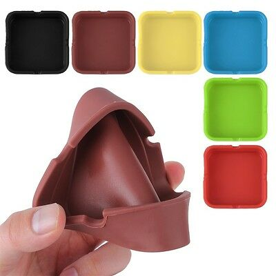 Soft Portable Eco-Friendly Silicone Heat Resistant Ash Ashtray Holder Gift DP