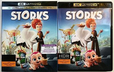 Storks 4K Ultra Hd Uhd Blu Ray 2 Disc Set + Slipcover Sleeve Free World Shipping