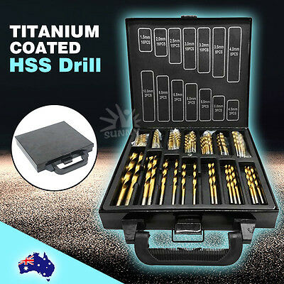 New 99Pc Metric Titanium Coated Drill Bit Set In Metal Case Nd-1001