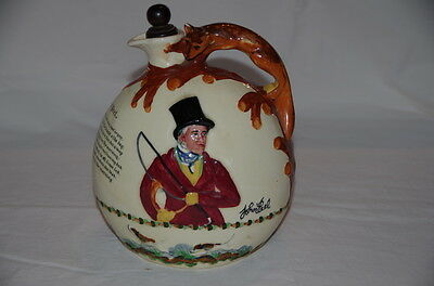 John Peel Hunting Crown Devon Musical Wine Jug