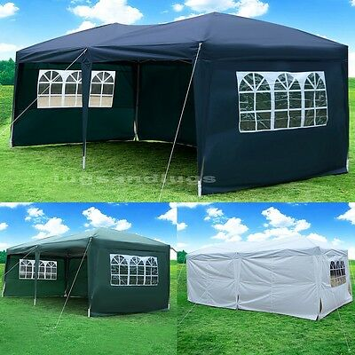New 3X6M POP UP Gazebo Wedding Party Tent Canopy Marquee Waterproof White