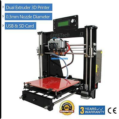 Geeetech Prusa I3 Dual extruder MK8 3D Printer LCD control panel support SD card