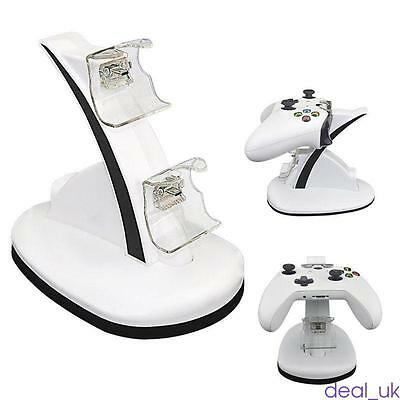 For Xbox One, Xbox One S Dual LED Charging Dock Station, Charge Play Controller