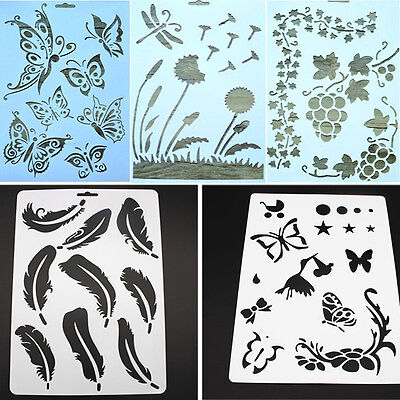 2Pcs DIY Craft  Layering Stencils For Walls Painting Scrapbooking Stamps Album