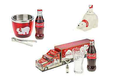 Coca-Cola Mini Ice Bucket with Coke & Tongs & Storage Jar Gift Sets