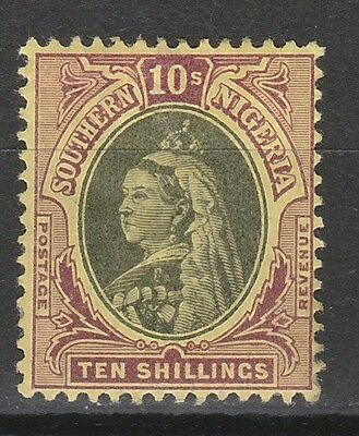 Southern Nigeria 1901 Qv 10/- Top Value