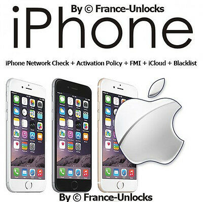 iPhone Network Check + Activation Policy + FMI + iCloud + Blacklist