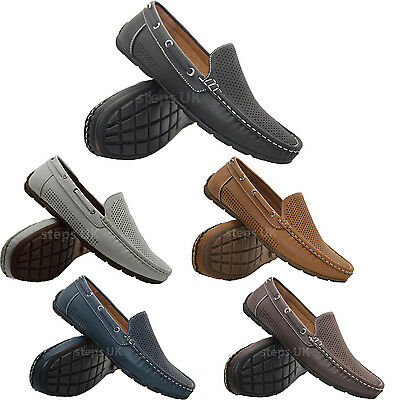 Mens New Slip On Designer Loafers Casual Boat Deck Mocassin Driving Shoes Sizes