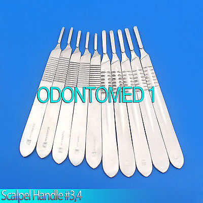 Scalpel Handle #3 - 4 Surgical instruments Stainless Steel Set of 10 Pcs