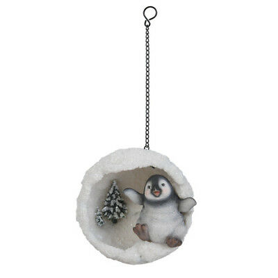 Hanging Playful Penguin Snowball by Vivid Arts- BG-HS02-F