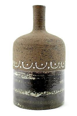 A vintage Thomas Hellstrom bottle shaped vase for Nittsjo. 50's 60's Slipware