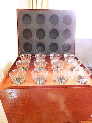Waterford Crystal 12 Days of Christmas Flutes,Complete Set of 12 in Case IRELAND
