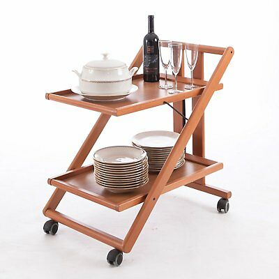 Aigner Gimmy Serving Trolley in Walnut