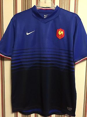 Nike 2011-2012 France Rugby Union World Cup Jersey Shirt Size L
