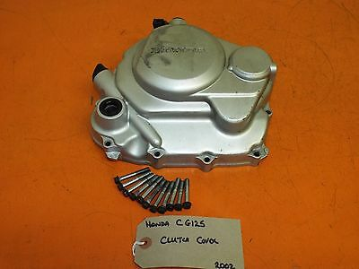Honda CG125 2002 Clutch Cover, Clutch Release Mechanism, Dipstick and Bolts