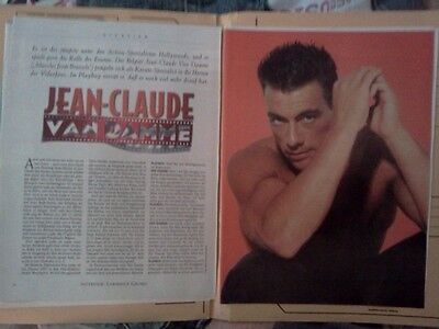 Poster Jean Claude Van Damme Clippings Film Action Yellow Press Second Hand!