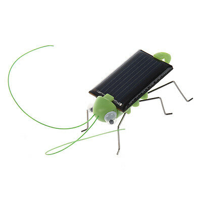 07S8 Solar Powered Grasshopper. Just Place in the Sun and Watch it's Legs Jiggl