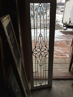 Sg 1009 Antique All Beveled Glass Transom Floral With Jewels