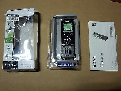 Sony ICD-PX440 4GB Digital Voice Recording MP3 Recording/Playback Stereo Mic New