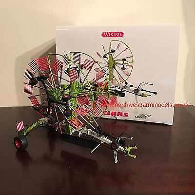 Wiking 1/32 Scale Claas Liner 2600 Twin Rotor Rake **new**