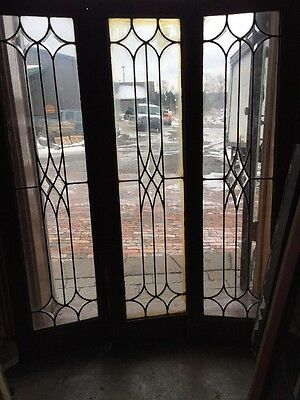 Sg 1016 3Available Priced Each Antique Leaded Glass Beveled Transom Window