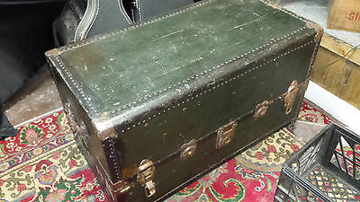 VINTAGE/ANTIQUE STEAMER TRAVEL TRUNK Maine RR, Poland spring read description