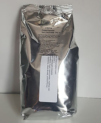 Costa Coffee Hot Chocolate 1Kg The original  - TRACKED SERVICES -